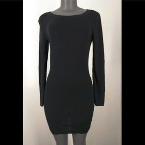 Banana Republic Black Silk Wool Dress